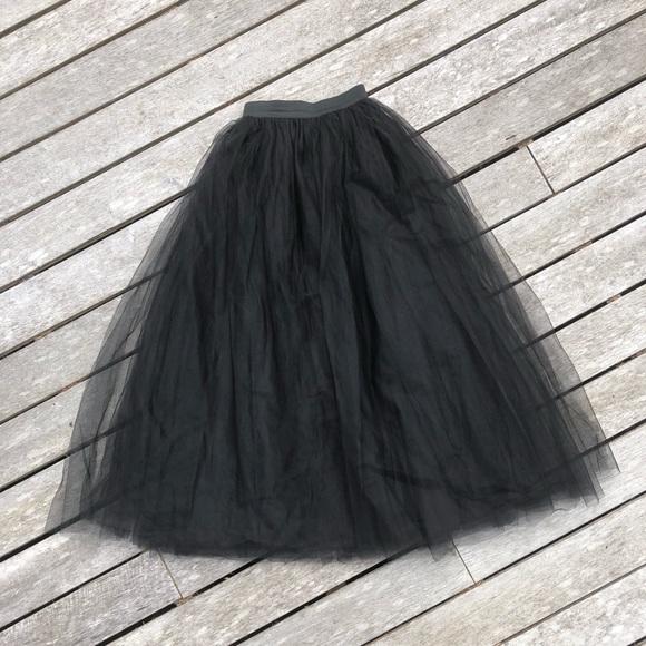 Dresses & Skirts - 🖤 Gorgeous Black Tulle High Waisted Long Skirt 🖤